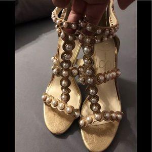 Jessica Simpson Women's ELEIA Heeled Sandal GOLD